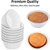 Caperci White Foil Cupcake Liners Standard Muffin