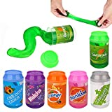 Simuer Magic Crystal Slime Putty Toy,Fluffy Slime Can Soda Jelly Pudding Slime Soft Mud DIY Toy for Children Adult 6-Pack