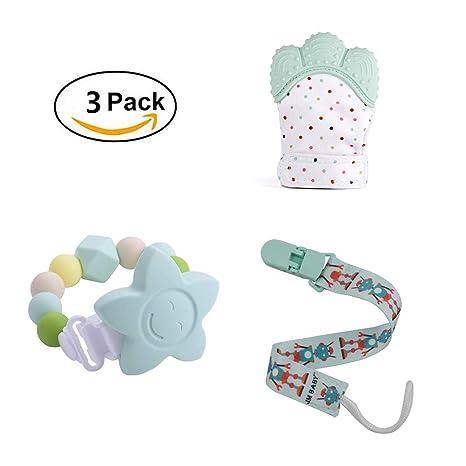 3 + Mes Los recién nacidos del bebé Mordedor Set - BPA del 100 ...