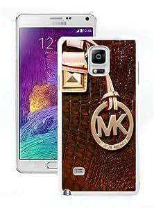 Genuine MK Galaxy Note 4 Case,Michael Kors 114 White Samsung Galaxy Note 4 Screen Phone Case Popular and Elegant Design