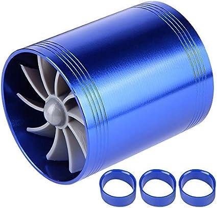 Auto Lufteinlass Turbo Auto Turbonator Dual Fan Turbine Superlader Gas Fuel Saver Turbo Ersatz Blau Auto