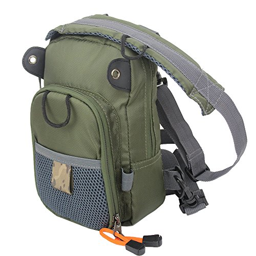 KyleBooker Fly Fishing Chest Bag Lightweight Waist Pack (Adjustable Size) (Fishing Fly Packs Chest)