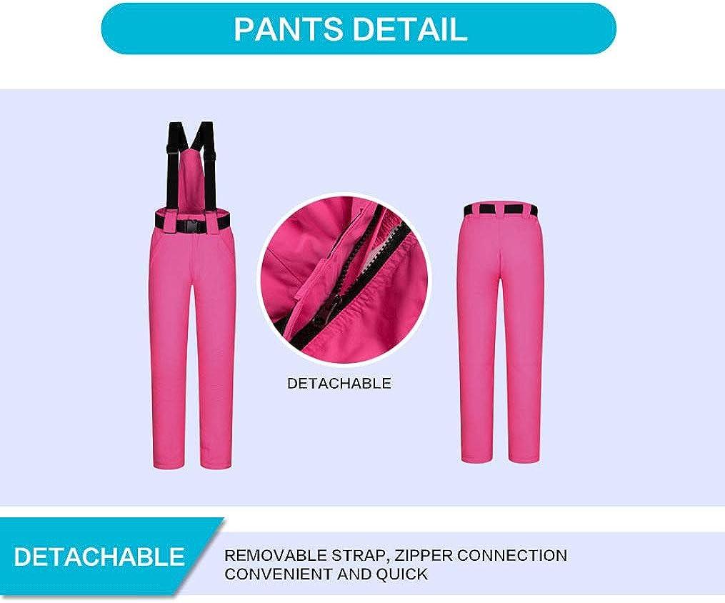 PsemesP Winter Snow Clothing Set Thick Waterproof Ski Jacket and Pants Set -30 Degree Skiing and Snowboarding Suits Women 5