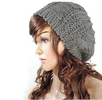 Dasuke Bonnet Beanie Baggy en tricot pour femme, en laine chaude pour le  ski ( 685b215c200