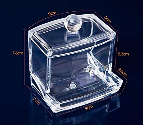 Display Ring - Transparent Clear Acrylic Organizer Holder Cotton Swab Box Makeup Pads Storage Box Desktop Organizer Jewelry Case for Cosmetics