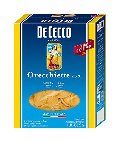 De Cecco Pasta, Orecchiette, 16 Ounce (Pack of 20) (Conchiglie Pasta compare prices)