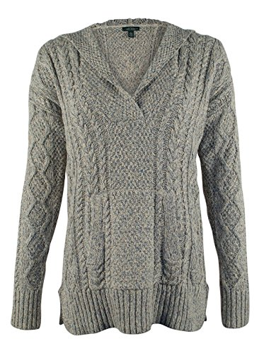 Lauren Jeans CO. Women's Cable Knit Hooded - Co Polo Ralph Lauren Jeans
