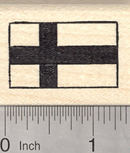 Flag of Finland Rubber Stamp, Siniristilippu, Blue Nordic Cross