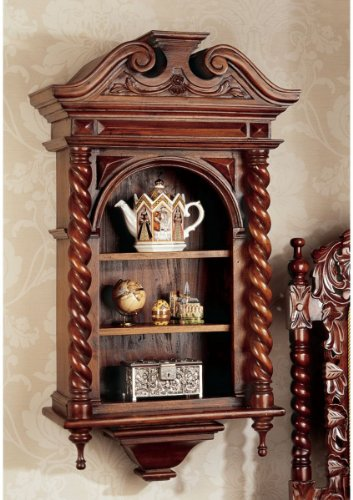 ique Replica HandCarved Curio Cabinet (Manor Curio)