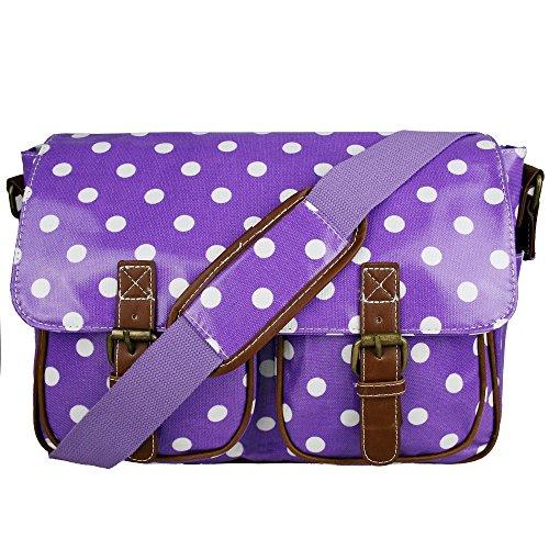 Miss Lulu - Bolso cruzados para mujer Talla única Polka Dots Purple