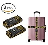 SWEET TANG Luggage Strap Combination Lock Adjustable Suitcase Travel Belt Cool Camouflage