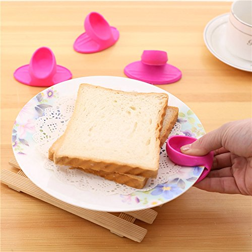 1PC Grips Mini Anti-scald Gloves Pot Holder Potholder for Kitchen Silicone Pot Holder Oven Mitt Heat Resistant Cooking Finger Protector Pinch Grips by Muhan (Image #6)