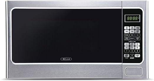 ft Stainless Steel//Black 1.1 cu Bella BMO11ABTBKC 1000-Watt Family Sized Digital Microwave Oven