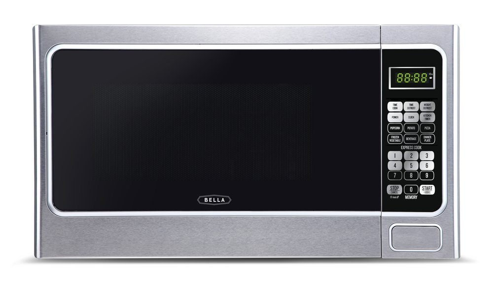 Bella BMO11ABTBKC 1000-Watt Family Sized Digital Microwave Oven 1.1 cu. ft. Stainless Steel/Black
