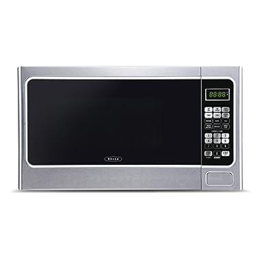 Bella BMO11ABTBKC 1000-Watt Family Sized Digital Microwave Oven 1.1 cu. ft. Stainless Steel/Black