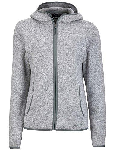 Marmot Norhiem Women's Sweater Knit Fleece Jacket, Platinum, Medium (Marmot Fleece Jacket)