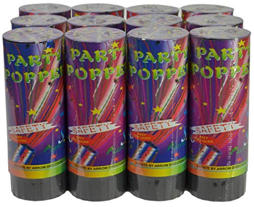 Confetti Party Poppers 4 Inch 12ct