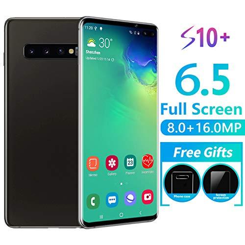 RUN.SE New 6.5-Inch S10 Full-Screen Smartphone Face/Fingerprint Unlock 6GB+128GB Dual SIM Cards HD Camera Bluetooth GPS Navigation Hi-fi Sound Quality Mobile Phones