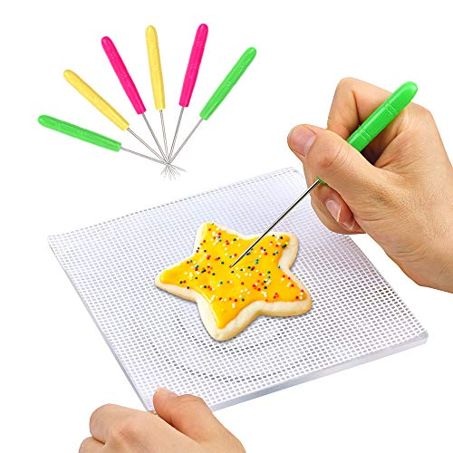 Cookie Decorating Turntable, Sugar Icing Cookie Decorating Tools with Anti-Slip Silicone Mat ()