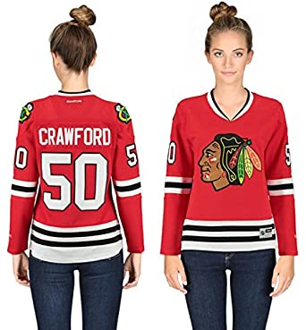 Chicago Blackhawks Women s Corey Crawford  50 Premier Stitched Jersey-10768  (X-Large 238383e58a