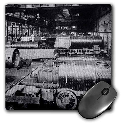 3dRose Scenes from The Past Magic Lantern Slide - Baldwin Locomotive Works Philadelphia Pennsylvania Magic Lantern Slide - Mousepad (mp_240505_1)