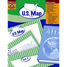 U.S. Map Cards, Grades 3-6