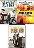 Head West 4 John Wayne Films North to Alaska + Undefeated & Lawless Frontier/Lucky Texan Feature DVD Western Movie bundle