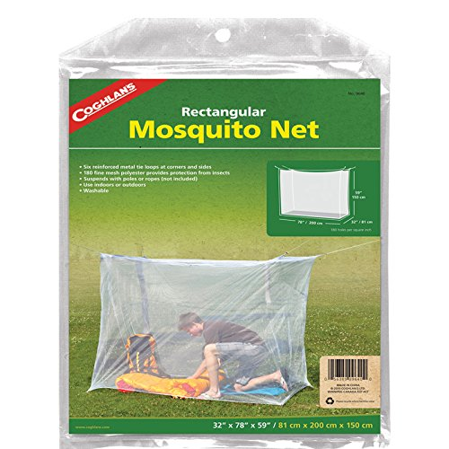 (Coghlan's Single Wide Rectangular Mosquito Net, White)