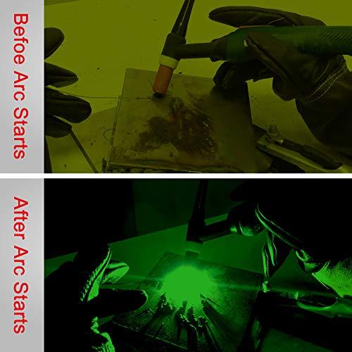 Casco de soldadura Antra AH6-260-0000 Energía solar Oscurecimiento automático Amplio rango de sombras 4 / 5-9 / 9-13 con molienda 6 + 1 Cubiertas de lentes adicionales Estable para plasma TIG MIG MMA