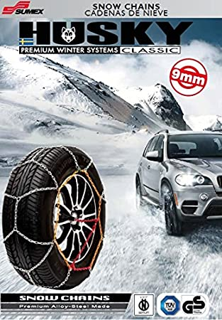 275//35 R18 SUMEX Husky Winter Classic Alloy Steel Snow Chains for 18 Car Wheel Tires