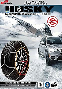 Sumex Husky Winter Classic Alloy Steel Snow Chains for 17 Car Wheel Tyres 245//40 R17