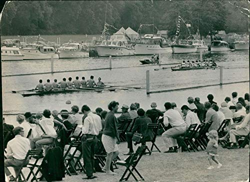 Vintage photo of Henley Royal Regatta challenge cup.