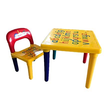 Superb Amazon Com Acazon Kids Table And Chair Set Alphabetic Complete Home Design Collection Barbaintelli Responsecom