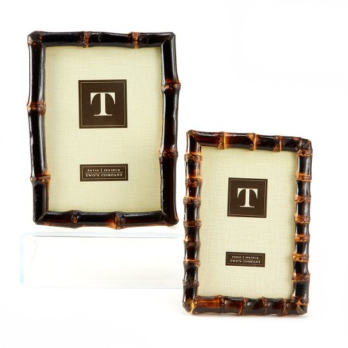 Two's Company Bamboo Photo Frames, Set of - Bamboo Frames