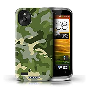 KOBALT? Protective Hard Back Phone Case / Cover for HTC Desire X | Green 1 Design | Camouflage Army Navy Collection