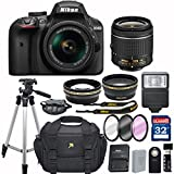 Nikon D3400 DX-format Digital SLR w/ AF-P DX NIKKOR 18-55mm f/3.5-5.6G VR + 32GB Memory Accessory Bundle – International Version