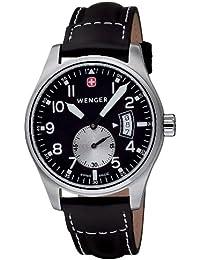 Men's 72470 AeroGraph Vintage Black Dial Black Leather Watch