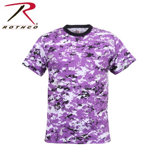 Rothco T-Shirt, Digital Ultra Violet Camo, Medium