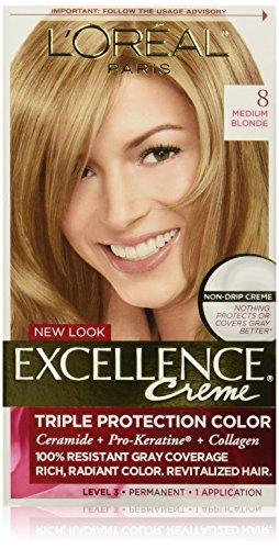 L'Oréal Paris Excellence Créme Permanent Hair Color, 8 Medium (Blonde Creme)
