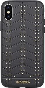 Santa Barbara Polo & Racquet Club Armor Back Case Cover for Apple iPhone X in Black