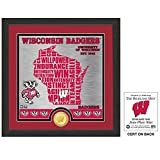 NCAA Wisconsin Badgers ''State'' Bronze Coin Photo Mint, 18 '' x 14'' x 3'', Bronze