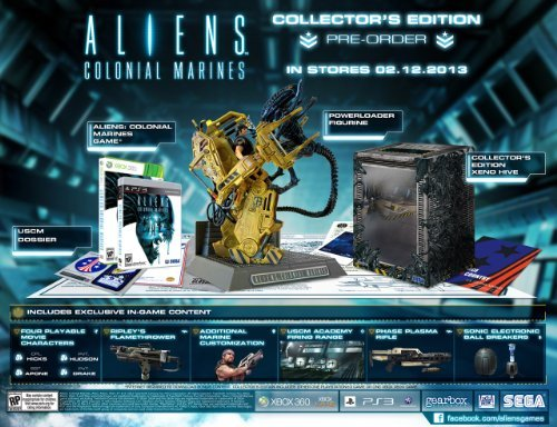 - Aliens Colonial Marines Collector's Edition (PlayStation 3 HD Only version) With Powerloader Figurine, Play as Private Hudson, Corporal Hicks, Private Drake and Sargent Apone, 3 exclusive weapons and much more.