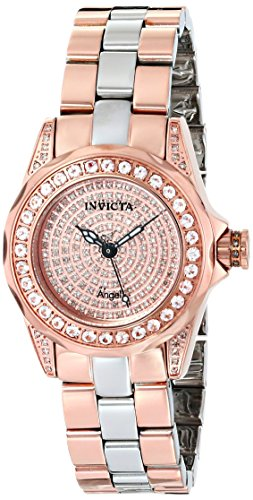 Invicta Women's 16008 Angel Analog Display Swiss Quartz Two Tone Watch