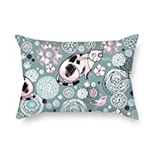 MeiGi Throw Cushion Covers 18 X 26 Inches / 45 By 65 Cm(twice Sides) Nice Choice For Dance Room Relatives Bench Shop Car Seat Club Cat
