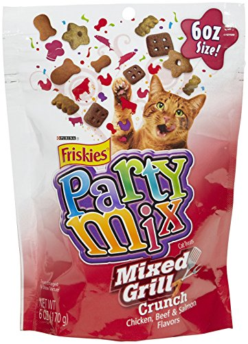 Purina Friskies Party Mix Cat Treats Mixed Grill Crunch