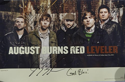 Signed August Burns Red Autographed Poster Full Band W/pics -