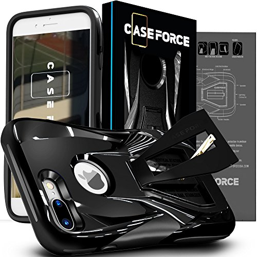 CASE FORCE Cell Phone Case Compatible With iPhone 8 Plus/7 Plus [Velocity Series] Best Ultimate for Girls Women Men, Kickstand Heavy Duty Military Grade Drop Protection Custom Design Cover
