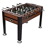 Large 54'' Inch Indoor Arcade Game Foosball/Football Table for Recreation Living Room College Dormitory, Sturdy and Strong Built (Dark Brown, 54)