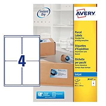avery self adhesive parcel shipping labels inkjet printers 4