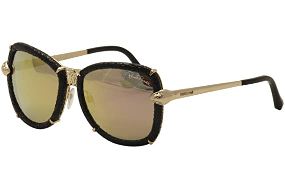 Amazon.com: Roberto Cavalli – Gafas de sol, Shiny rose gold ...